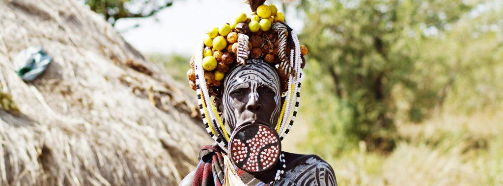 Mursi-people-Ethiopia lip-plate-woman